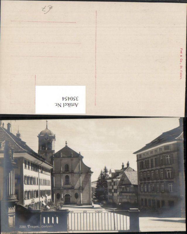 350454,Trogen Dorfplatz Kirche Kt Appenzell