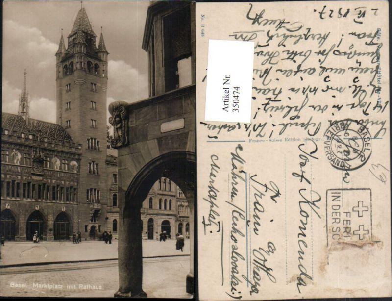 350474,Basel Marktplatz m. Rathaus