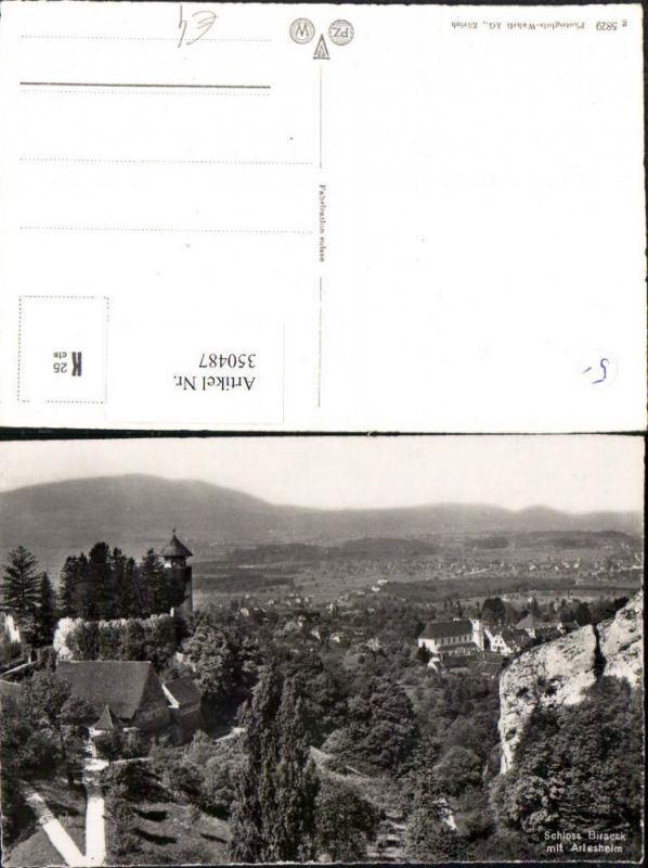 350487,Schloss Birseck m. Arlesheim Teilansicht Kt Basel-Land