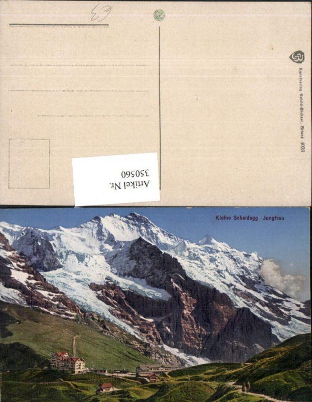 350560,Kleine Scheidegg m. Jungfrau Bergkulisse Kt Bern