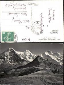 350572,Männlichen Eiger Mönch u. Jungfrau Bergkulisse Kt Bern