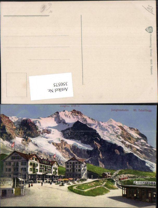 350575,Kleine Scheidegg Jungfraubahn Bergkulisse Kt Bern