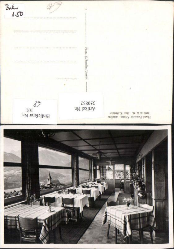 350832,Amden Hotel Pension Sonne Innenansicht Kt St Gallen