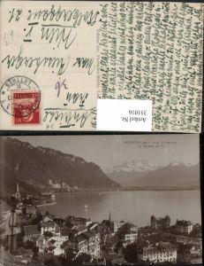 351016,Montreux Vue Generale et Dents du Midi Totale Bergkulisse Kt Waadt