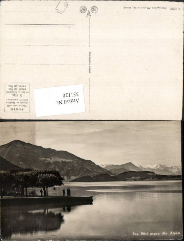 351120,Zug Blick geg. Alpen Bergkulisse