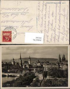 351161,Zürich Teilansicht Brücke