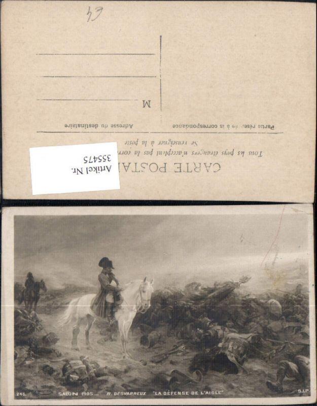 355475,Künstler Ak R. Desvarreux La Defense de l Aigle Napoleon