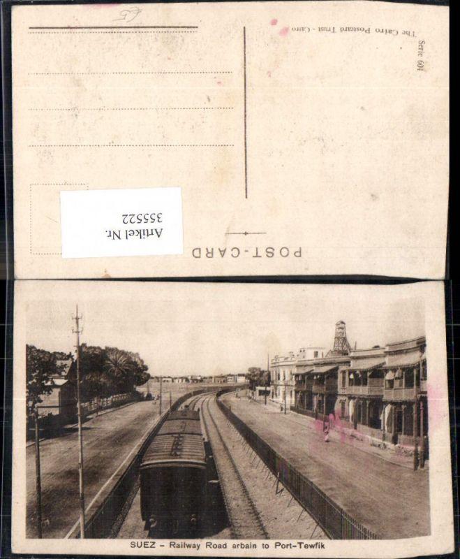 355522,Lokomotiven Suez Railway Road arbain to Port-Tewfik Eisenbahn