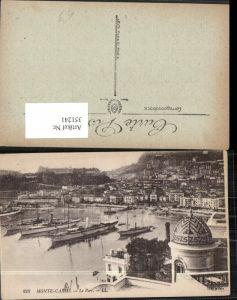 351241,Monte-Carlo Le Port Teilansicht Hafen Dampfer