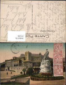 351246,Monaco Le Palais du Prince Palast Statue