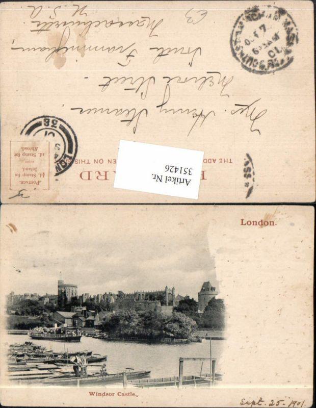 351426,London Windsor Castle Schloss Boote Dampfer