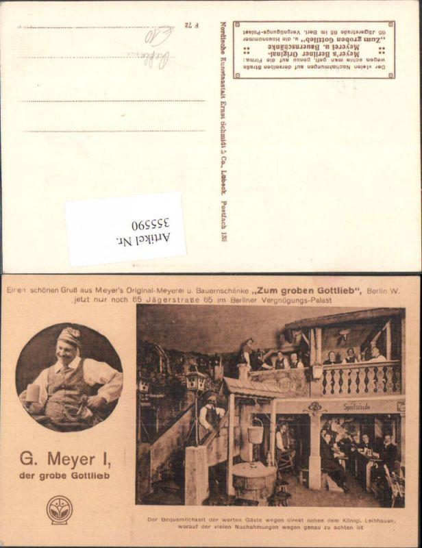 355590,Reklame G. Meyer Zum groben Gottlieb Berlin Vergnügungspalast Bier Bauernschänke