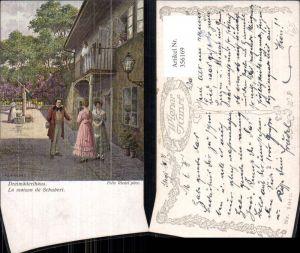 356169,Künstler Ak Felix Riedel Dreimäderlhaus Franz Schubert Komponist pub B.K.W.I. 1943