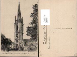 356783,Bretagne Finistere Plougasnou Le Clocher de l'Eglise Glockenturm Kirche