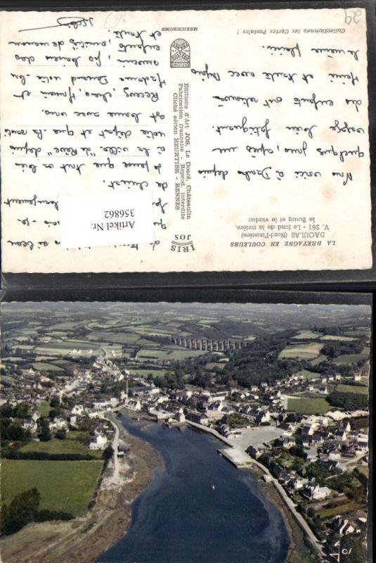 356862,Bretagne Finistere Daoulas Le fond de la riviere le bourg et le viaduc Totale