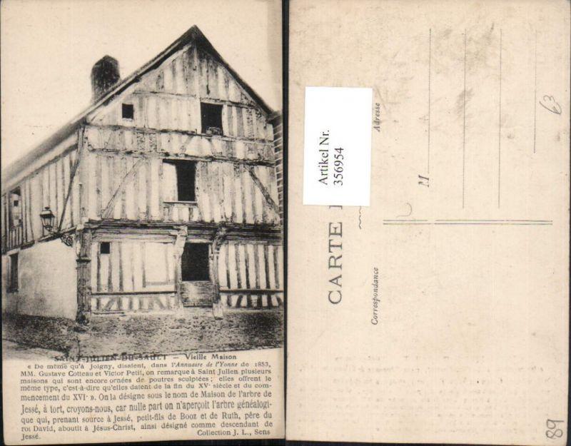 356954,Burgund Yonne Saint-Julien-du-Sault Vieille Maison Haus