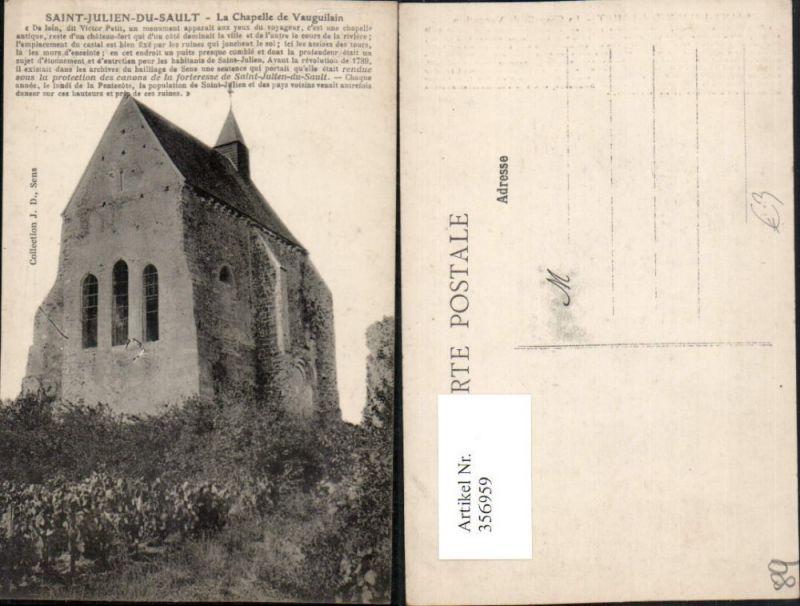 356959,Burgund Yonne Saint-Julien-du-Sault La Chapelle de Vauguilain Kapelle