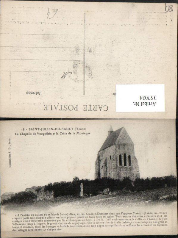 357024,Burgund Yonne Saint-Julien-du-Sault Chapelle de Vauguilain Kapelle