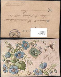 362281,Künstler Ak Eutoca Insekten Bienen Blütenzweig Blumen Tiere