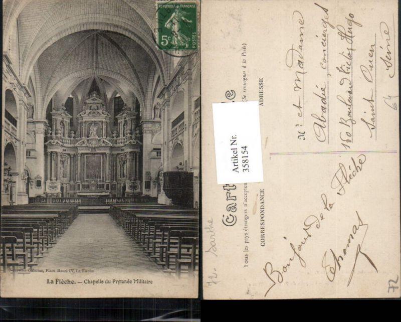 358154,Pays de la Loire Sarthe La Fleche Chapelle du Prytanee Militaire Kirche Innenansicht