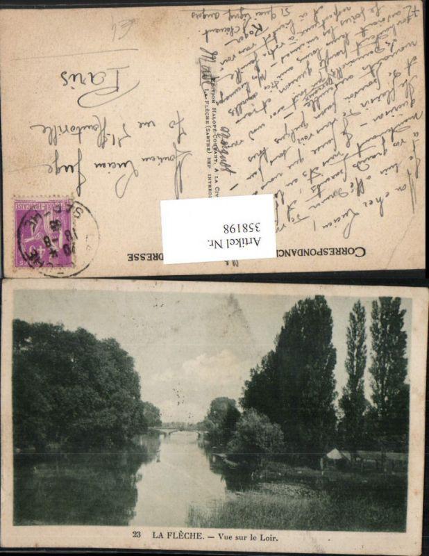 358198,Pays de la Loire Sarthe La Fleche Vue sur le Loir Fluss