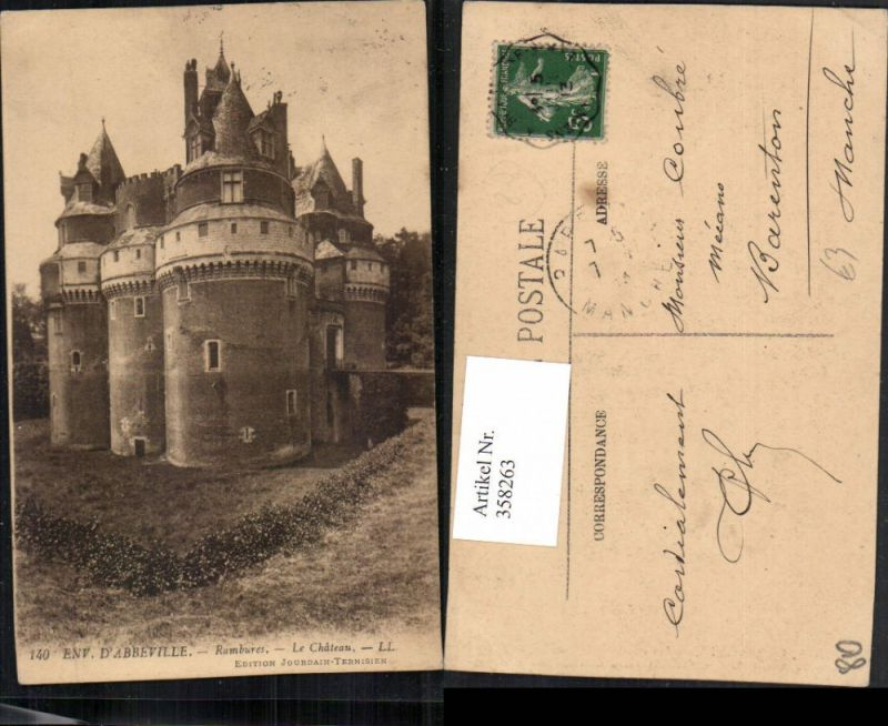 358263,Picardie Somme Abbeville Rambures Le Chateau Schloss