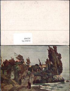 362488,Künstler Ak Böcklin Villa a. Meer
