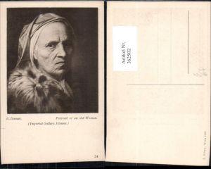 362502,Künstler Ak B. Denner Portrait of an old Woman Alte Frau m. Haube Portrait pub J. Löwy 24