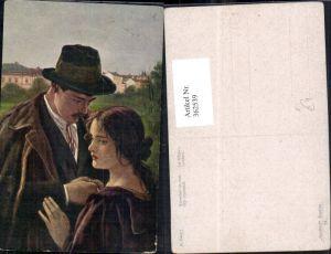 362539,Künstler Ak K. Zewy Scheiden tut weh Paar Abschied