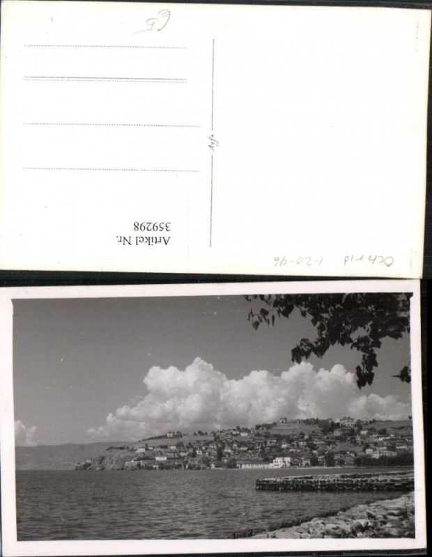 359298,Foto AK Ochrid Ohrid Teilansicht Küste Ufer