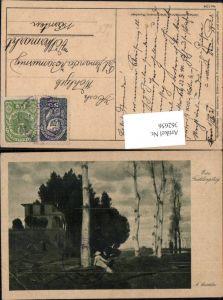 362656,Künstler Ak A. Böcklin Ein Frühlingstag Paar sitzt unter Baum