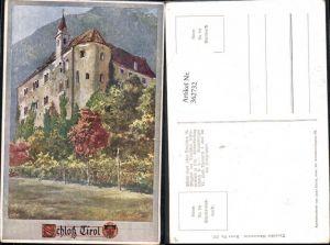 362732,Deutscher Schulverein 337 Künstlerkarte E. F. Hofecker Schloss Tirol