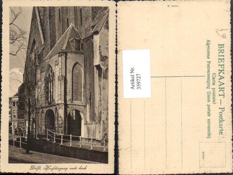 359727,Netherlands Delft Hoofdingang oude Kerk Kirche