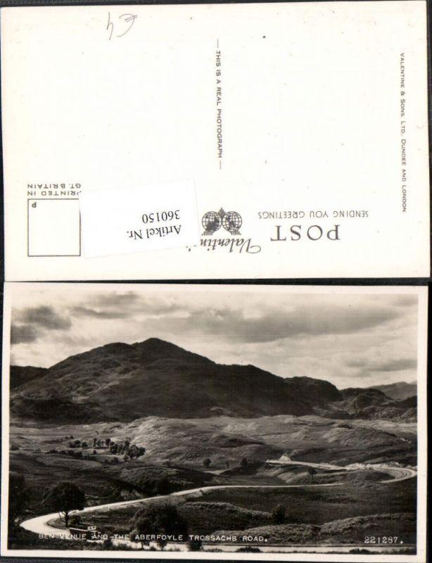 360150,Scotland Stirling Ben Venue and Aberfoyle Trossachs road Bergkulisse