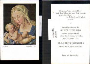 362831,Andachtsbilder Heiligenbildchen A. Dürer Maria m. Jesuskind