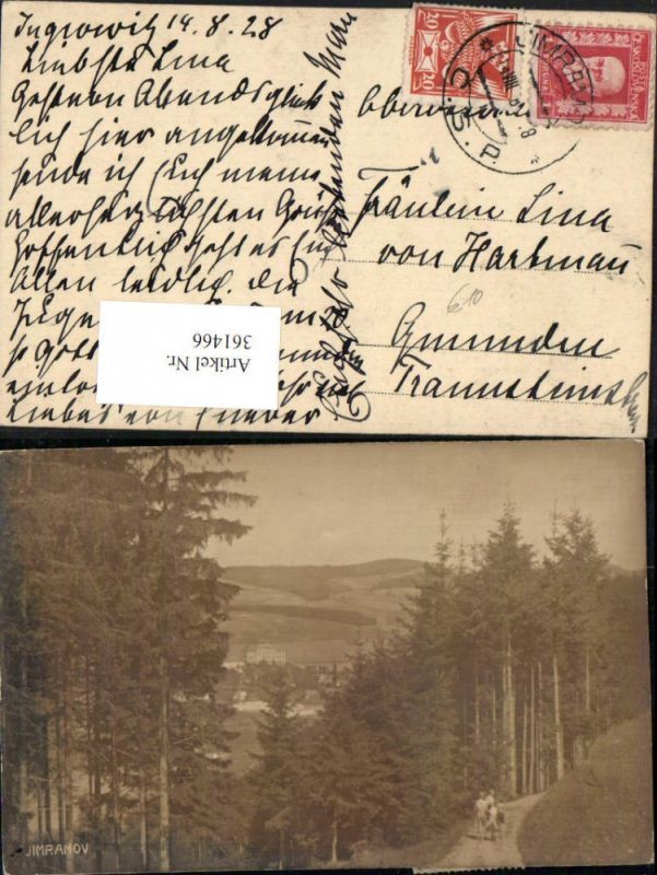 361466,Jimramov Ingrowitz Teilansicht Wegpartie Wald