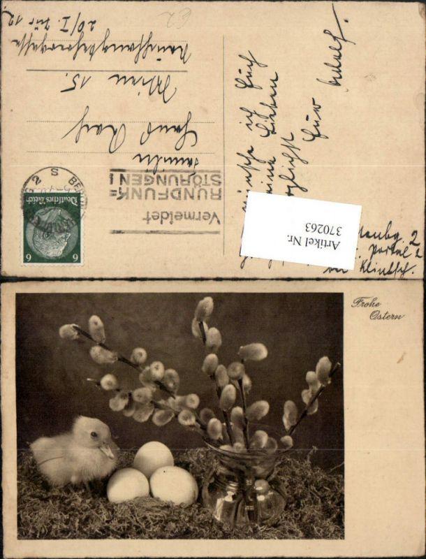 370263,Ostern Küken Ente Eier Palmkätzchen Weidenkätzchen