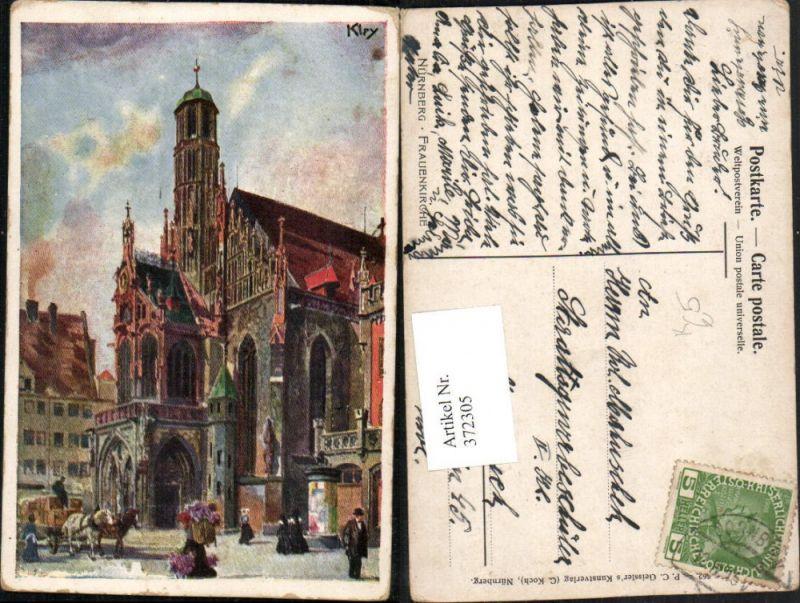 372305,Künstler AK Heinrich Kley Nürnberg Frauenkirche Kirche