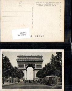 364617,Paris L Arc de Triomphe de l Etoile Triumphbogen Bus