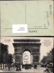364618,Paris L Arc de Triomphe de l Etoile Triumphbogen Bus