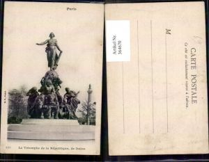 364670,Statue Paris Le Triomphe de la Republique de Dalou