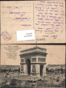 364724,Paris Place et Arc de Triomphe de l Etoile Triumphbogen
