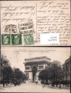 364725,Tout Paris L Arc de Triomphe et l Avenue du Bois-de-Boulogne Triumphbogen