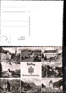 373957,Fürstentum Liechtenstein Vaduz Rathaus Schloss Rotes Haus Mehrbildkarte