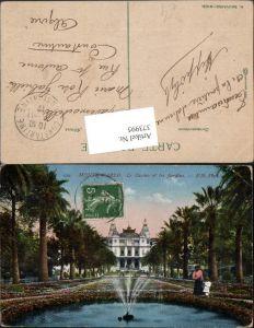 373995,Monaco Monte-Carlo Le Casino et les Jardins Palmen