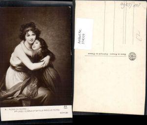 374319,Künstler Ak Elle Meme Madame Vigee le Brun et sa fille Kind Mädchen m. Frau