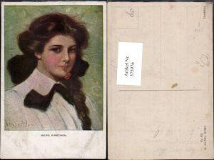 375976,M. Munk Vienne 832 Künstler Clarence F. Underwood Reife Kirschen Frau Portrait