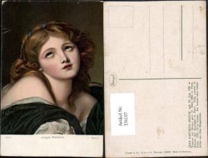 376107,Stengel Co 29744 Künstler Jean Baptiste Greuze Junges Mädchen Portrait