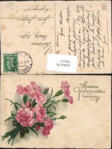 376155,Meissner & Buch 2898 Künstlerkarte Geburtstag Blumen Nelken