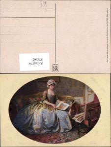 376162,Meissner & Buch 2528 Künstlerkarte Frau m. Kleid Sofa Bilder